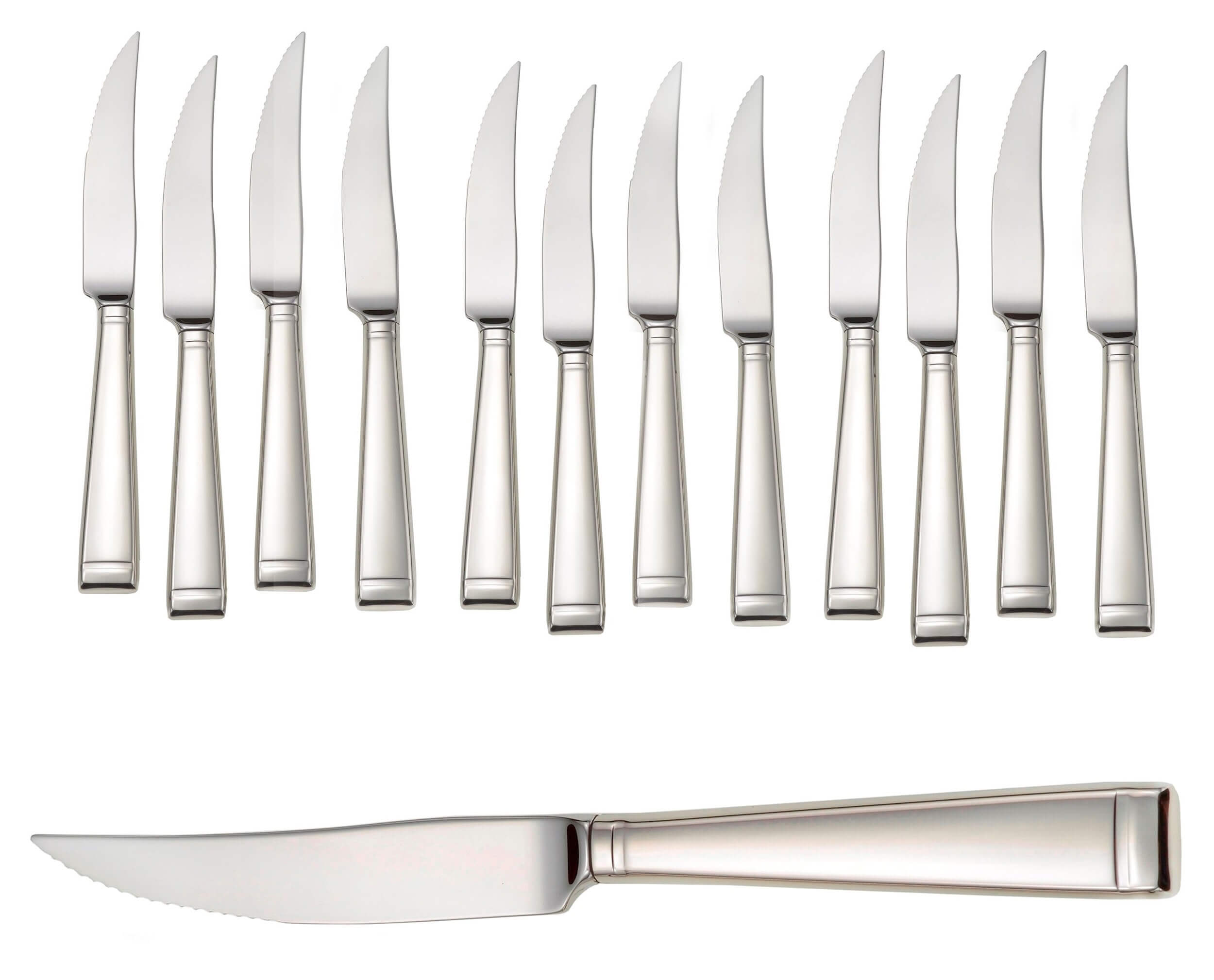 steak knives promotional set of 12 with closeup